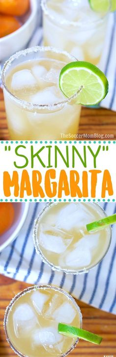 Forget powders and mixes — once you taste this fresh-squeezed skinny margarita recipe, you'll never go back! Natural ingredients and ready in minutes. Frozen Drink Recipes, Sangria Recipes, Beer Recipes, Margarita Recipes, Cocktail Recipes, Easy Recipes, Vegan Recipes, Free Digital Scrapbooking, Marketing Automation