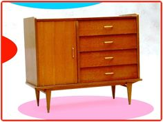 COMMODE BUFFET VINTAGE ANNEES 60