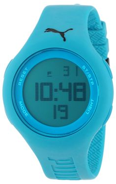 PUMA Unisex PU910801001 Loop Neon Blue Digital Watch