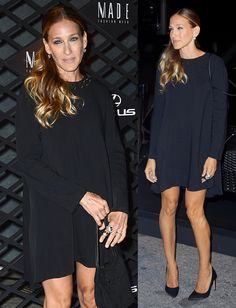 Sarah Jessica Parker in head-to-toe black at a Lexus-sponsored event held during the first day of New York Fashion Week in New York City on September 5, 2013