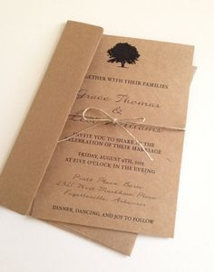 Hey, I found this really awesome Etsy listing at https://www.etsy.com/listing/150591917/rustic-tree-wedding-invitations