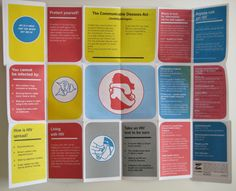 HIV informative fold out poster/brochure