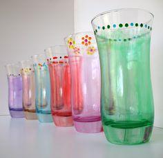 Crystal Enamel Drinking Glasses - Crafts by Amanda