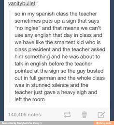 Hahahhaha No Ingles! :3