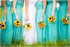 INSPIRAÇÃO: Vestidos de madrinha turquesa   Casar é um barato