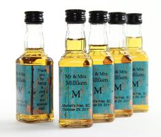 Blue Barn Siding Wedding Favor Mini Bottle Liquor Labels // Set of 50 // To see our other mini bottle labels on Etsy click here:   https://www.etsy.com/shop/skoodo?section_id=13336845