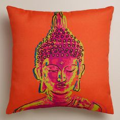 One of my favorite discoveries at WorldMarket.com: Buddha Outdoor Throw Pillow #Anthropologie #PinToWin