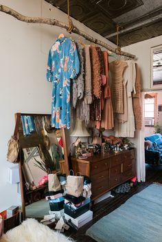 Real Cool People, Real Cool Apartments Aurora James Man Repeller is part of Open wardrobe - It's time for MR's Real Cool People, Real Cool NYC Apartments with cool person Aurora James Decor Room, Diy Home Decor, Bedroom Decor, Room Interior, Interior Design, Apartment Interior, Open Wardrobe, Bohemian House, Bohemian Apartment