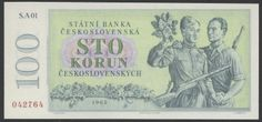 World money - Czechoslovakia 100 Czech koruna banknote - State Bank of…