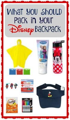 Yes, you do need a packing list for your Disney backpack! You don't want to forget something you might need while at the park.