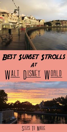 "Romance is alive and well at Walt Disney World, but you don't have to spend a lot of money to enjoy the company of your significant other. In fact, there are a number of great spots to ""get away from it all"" and take a good ol' fashioned romantic Sunset Stroll!"