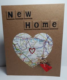 Cotswold Crafter: The First Of Our New Home cards house card, New Home Cards, New Home Gifts, Tile Crafts, Paper Crafts, Card Drawing, Travel Cards, Cards For Friends, Diy Cards, Homemade Cards