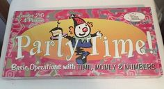 Creative Teaching Associates Party Time Board Game Educational Time Money N