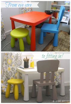 Update an IKEA kids table to fit with your decor!