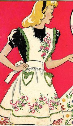 2 Vintage Apron Patterns Vogart 141 with Hand by BlondiesSpot, $4.99