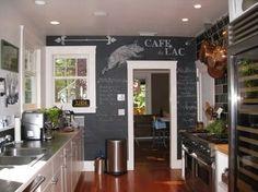 chalk paint Chalkboard Paint Kitchen, Blackboard Wall, Kitchen Paint, Kitchen Decor, Chalk Wall, Kitchen Ideas, Chalkboard Ideas, Magnetic Chalkboard, Kitchen Inspiration