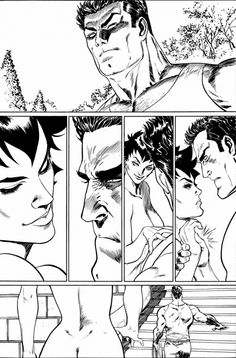 A nude Catwoman confronts Bruce Wayne in this abandoned New 52 artwork. 9