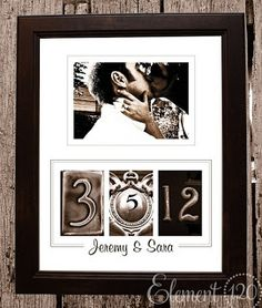 Anniversary photo frame idea. WILL be doing this in the new house. <3