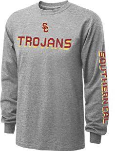 USC Trojans Grey Dimensional Long Sleeve T Shirt $23.95