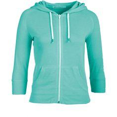 Green Raglan Sleeve Hoody ($13) ❤ liked on Polyvore