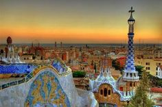 Parc Guell, by Antoni Gaudi. Barcelona, Spain I love Gaudi. Places Around The World, The Places Youll Go, Places To See, Around The Worlds, Dream Vacations, Vacation Spots, Vacation Travel, Barcelona Hotel, Barcelona Travel