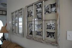 old window frame wall decor - Google Search