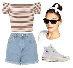 """""""Free time Outfit"""" by mandyrobbie on Polyvore featuring moda, Topshop, Miss Selfridge, Converse e Boohoo"""