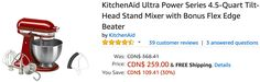 Amazon Canada Deals: Save 30% on KitchenAid Ultra Power Tilt-Head Stand Mixer & 74% on Munchkin Extending Metal ... http://www.lavahotdeals.com/ca/cheap/amazon-canada-deals-save-30-kitchenaid-ultra-power/207633?utm_source=pinterest&utm_medium=rss&utm_campaign=at_lavahotdeals