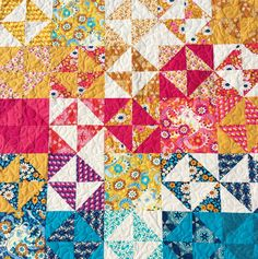 How to Make Broken Dishes Quilt Blocks Using Half Square Triangles