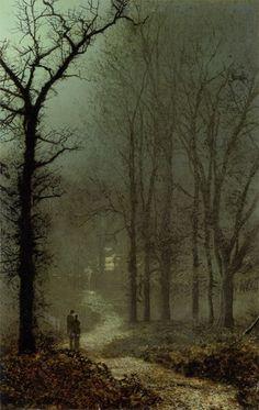 Lovers in a Wood - John Atkinson Grimshaw  1873