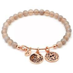 Chrysalis Femininity Grey Agate Pink Expandable Bangle Bracelet (325 DKK) ❤ liked on Polyvore featuring jewelry, bracelets, agate jewelry, agate bangle, bangle bracelet, hinged bangle and 14k bangle