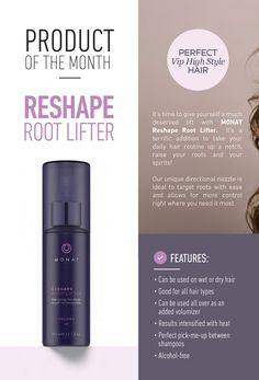 What 2 things does Volume have in common? Money & Great Hair, to find out more about this month's Product of the Month: RESHAPE Go to http://cruzin.mymonat.com/products/index.html?view=Products&category=Products&guid=