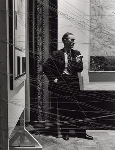Marcel Duchamp, Sixteen Miles of String, New York, 1942  Photograph by Arnold…