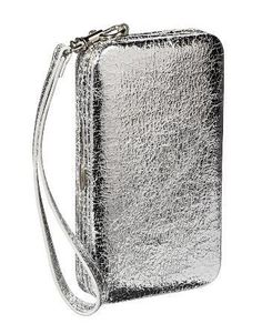 Your evening awaits! Pack the essentials in this silver cell phone case wallet.