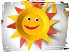 activité manuelle été : soleil assiette en carton - YouTube