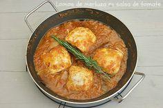 Atrapada en mi cocina: LOMOS DE MERLUZA EN SALSA DE TOMATE