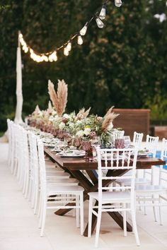 Portfolio of the destination weddings, baptisms and parties, we have previously organised on beautiful locations all over Greece Wedding Dinner, Wedding Table, Wedding Reception, Destination Wedding Planner, Wedding Planning, Greece Rhodes, Greece Wedding, Pampas Grass, Wedding Desserts