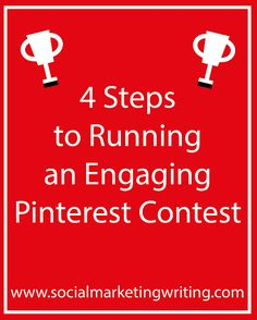 Four steps to running an engaging Pinterest contest. This seems like a great idea for some brands/organizations. It's also a way to develop content for other social channels. #Pinterest #JRM327 http://socialmarketingwriting.com/4-steps-running-engaging-pinterest-contest/