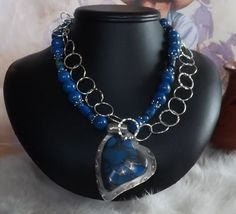 Stunning  Southwest Blue Riverstone and Sea Jasper by jewelrygals
