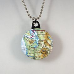 Seattle Area Map Necklace by XOHandworks