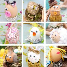 Divertenti idee per uova di Pasqua decorate