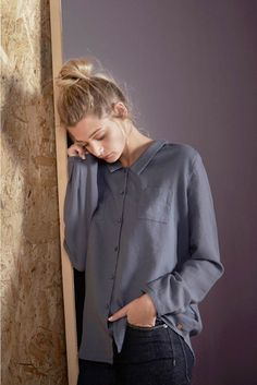 Chemise vagabond tonnerre tonnerre - chemise femme - harris wilson 2 Harris Wilson, Couture, Blouse, Long Sleeve, Sleeves, Tops, Women, Fashion, Thunder