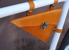 Leather Bicycle Bag Triangle Bag by BiciCouture on Etsy, $75.00