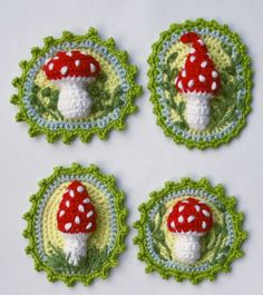 Toadstool Patches Crochet Pattern