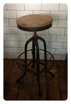 Cool breakfast bar stools.  Industrial chic