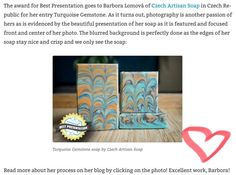 I am so grateful to be awarded Best Presentation for this month challenge Comb or not comb by Thank you Amy! Good Presentation, I Am Grateful, Turquoise Gemstone, Amy, Awards, Artisan, Challenges, Soap, Gemstones