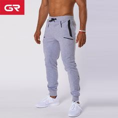 4125a7fe8846 High Quality Grey French Terry Tapered Fit Outdoor Casual Sweatpants Mens  Jogger Pants