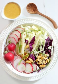 Summer Slaw with Peanut Dressing | Simply Fresh Dinners
