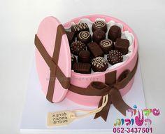 chocolate box cake by cakes-mania   עוגת קופסת שוקולד מאת שיגעון העוגות  - www.cakes-mania.com