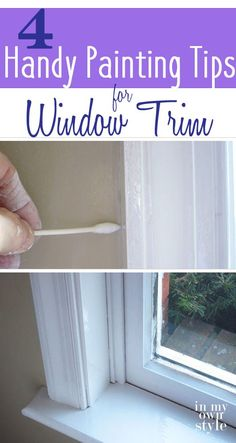 DIY Window Trim Update: Indispensable Tips for Painting Window Trim that will make the process as simple as possible.